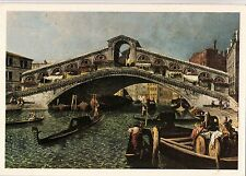 BF13818 michele marieschi painting venezia il poonte di  italy front/back image