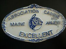 PLAQUE METAL ASSOCIATION CANINE MAINE ANJOU