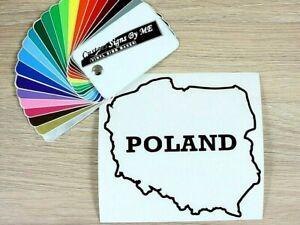 POLAND (Polska) naklejka Car Sticker Vinyl Decal Adhesive Bumper Tailgate BLACK