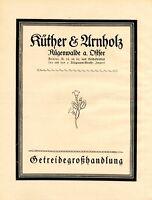 Getreide Küther & Arnholz Rügenwalde XL Reklame 1924 Werbung