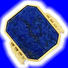 585er-Gold Herrenschmuck aus Gelbgold mit Lapislazuli-Perlen