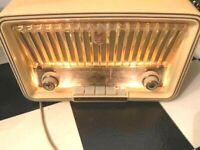 50er Philetta Röhrenradio von Philips,  Typ B2 D03A Nr. WA, creme restauriert