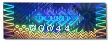 120x ad alta sicurezza ADESIVI OLOGRAMMI Blu, Numerati, 50mm x 20mm etichette, cinetico