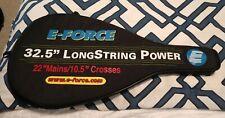 E-Force Judgement Racquetball 32.5 Longstring Power Raquet EUC w/ bag