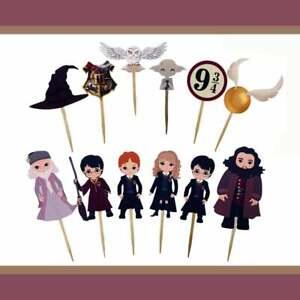 12 Harry Potter Cupcake Toppers | Harry Potter Birthday Party Decór