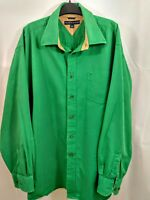 Tommy Hilfigher Vintage Long Sleeve Button Down Shirt Green XL PreOwned