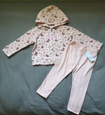 Toddler Girl 18-24 Month Baby Gap Pink Butterfly Arch Logo Hoodie & Leggings