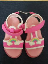 Carters Toddler Girls Light Up Athletic Pink Sandals Shoes 7.  New