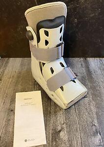 Aircast AirSelect Short Walking Boot Adult Medium w/ Built in Pumps DJO Gray Pad