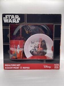Disney - Star Wars - ZAK! 3 Piece Mealtime Dish Set Stormtroopers Kylo Ren - New