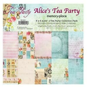 """Memory Place Alice Tea Party 6"""" x 6"""" Inch Paper Pack New"""