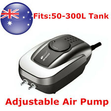 320L/H Aquarium Quiet Fish Tank Adjustable Air Pump with 2 Outlets AU
