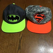 Batman Spiderman Baseball Hats Youth OSFM DC Comics Adjustable