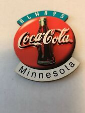 """COCA-COLA """"ALWAYS COCA-COLA"""" MINNESOTA, WITH BOTTLE, WOODEN MAGNET, NEW 3"""" HIGH"""