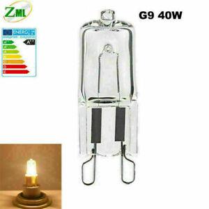 1/10X G9 40W Halogen Bulb Clear Capsule Light bulb 220V Replace LED Lamp