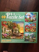 Four 500 piece jigsaw puzzles