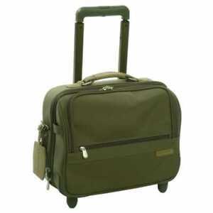 "Briggs & Riley Baseline Series 14"" Companion Carry On Wheels Green Nylon U114"