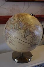 30CM WORLD GLOBE ON BASE ANTIQUE BRASS FINISH MAP POLISHED NEXT DAY DELIVERY