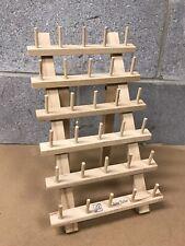 June Tailor Wood Thread Rack 30 Mini Spool w/ folding Legs