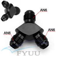 Black CNC Aluminium Autos 3-Way Universal AN6 Y Block Adapter Fitting UK! Stock