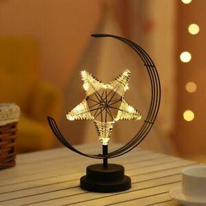Iron Art Led Night Light Bedroom Living Room Study Home Decoration Desk Lamp