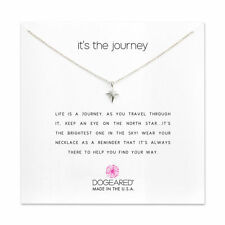 """Dogeared It's The Journey North Star Sterling Silver 16""""-18"""" Boxed Necklace"""