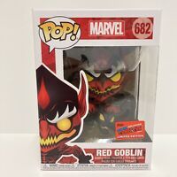 Funko Pop! Marvel Red Goblin NYCC 2020 Official Con Exclusive Sticker In Hand