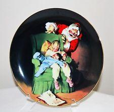 """Christmas Vigil"" by Haddon Sundblom The Sundblom Santa Series Plate w/Coa"
