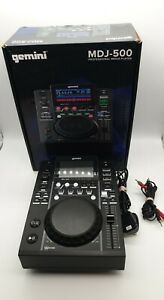 Gemini MDJ-500, DJ Player Deck, USB Input Media Controller.