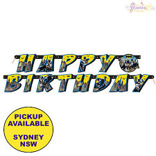 BATMAN PARTY SUPPLIES HAPPY BIRTHDAY BANNER SUPERHERO DECORATIONS