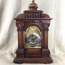 Antique  Bracket Clock Victorian German Large Ornate Chiming  Working Order