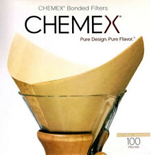 Chemex - Bonded Natural Filter Squares - Box of 100 FSU-100 - Best Way To Brew!