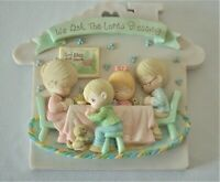 Precious Moments We ask the Lord's blessing plaque Thanksgiving Meal Enesco