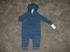 OshKosh BGosh Baby Boy Blue Striped Bear Hooded Outfit...