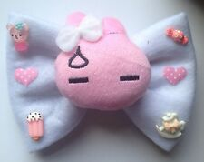 Giant Plush Bunny Hair Bow Rabbit Felt Heart Sweet Lolita Fairy Kei Kawaii