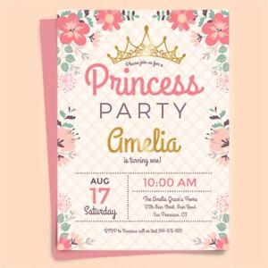 PERSONALISED BIRTHDAY PARTY INVITATIONS KIDS INVITES CHILDREN GIRL FREE ENVOLOPS