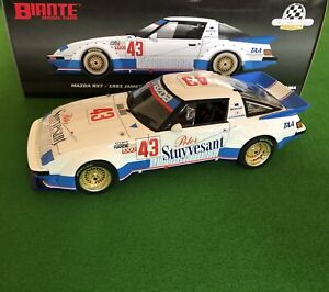 1/18 BIANTE MAZDA RX7 1983 JAMES HARDIE 1000 SECOND PLACE #43 MOFFAT / KATAYAMA