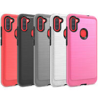 For Samsung Galaxy A11 Case,Slim Shockproof Phone Cover+Tempered Glass Protector