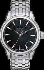 "Bulova Accu Swiss 63B174 ""Gemini"" Collection Automatic Stainless-Steel Watch"