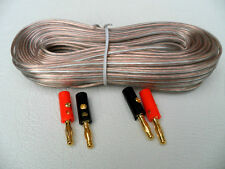 20m SPEAKER CABLE 24 AWG + 4 x Banana plugs (24awg) Audio Cable wire