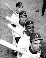 Aaron Torre Alou Johnson Photo 8X10 Atlanta Braves 1968