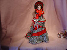 "Lawton Porcelain Wood Jointed 16""  Fashion Lady Doll Guilded Age Doll MIB"