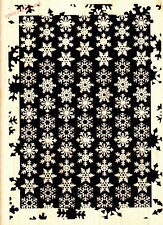 SNOWFLAKE - HAMPTON ART - Large Background Silhouette Wood Mounted Rubber Stamp
