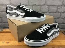 VANS MENS UK 9 EU 43 SK8-LO OFF THE WALL BLACK WHITE SUEDE TRAINERS RRP £65 C