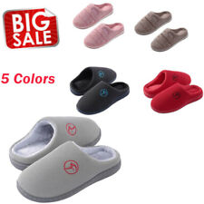 Women's House Shoes Plush Breathable Memory Foam Lining Anti-Slip Slippers BS
