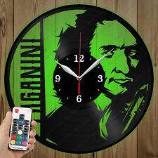 LED Vinyl Clock Niccolò Paganini LED Wall Art Decor Clock Original Gift 4739