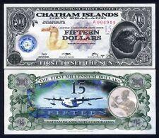 Chatham Islands, $15, 2001, Polymer / Tyvek, UNC
