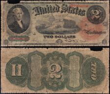 1869 $2 RAINBOW Legal Tender Note! FREE SHIPPING! U2799489*