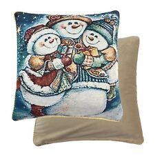 Relleno Navidad Snowmen Muñeco de Nieve Regalos Tejido Chenilla Rojo Cojín Azul