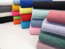 Cotton Terry Luxury Soft Towelling Double Sided Fabric Exclusive Crafts Bath